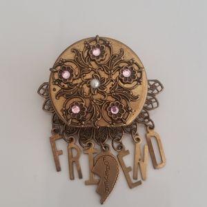 Vintage Friendship Exchange Pin   Brooch